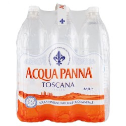 PANNA MINERAL WATER LT. 1.5 BOX OF 6 BOTTLES