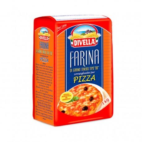 """DIVELLA FARINA DI GRANO TENERO TIPO """"00"""" PER PIZZA KG 1"""