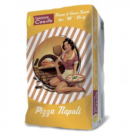 """Farina Tipo """"00"""" 25 kg W: 280 di grano tenero Pizza Napoli Casillo"""