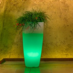 MONACIS VASO STILO ROUND TOP BRIGHT GREEN LIGHT DIAMETRO CM 40