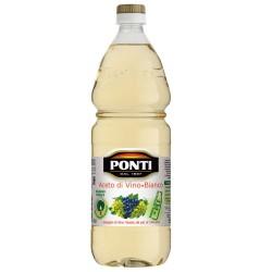 Aceto di Vino Classico Bianco Ponti Acidità 6% Bottiglia da 1 Litro