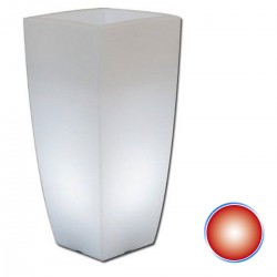 VASO MONACIS BRIGHT STILO SQUARE RED LIGHT CM 33X33 H CM 70