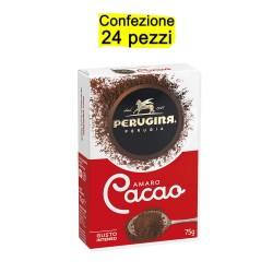 Multipack da 24 Confezioni di Perugina Cacao Amaro 75 Grammi Ciascuna