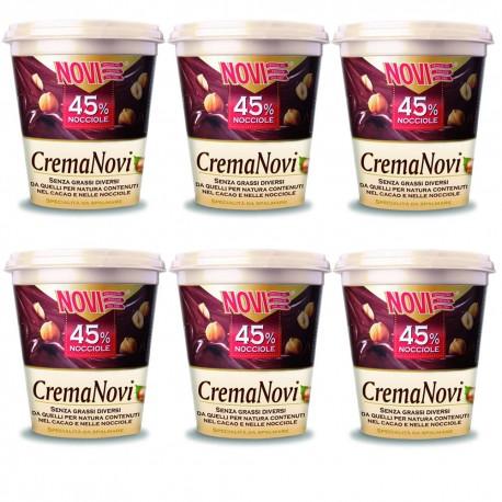 Multipack 6 Pezzi Novi Crema Spalmabile 45% Nocciole Grammi 200