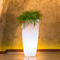 MONACIS VASO STILO ROUND BRIGHT WHITE LIGHT DIAMETRO CM 33