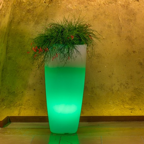 MONACIS VASO STILO ROUND BRIGHT GREEN LIGHT DIAMETRO CM 33