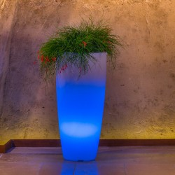 MONACIS VASO STILO ROUND TOP BRIGHT BLUE LIGHT DIAMETRO CM 40