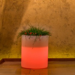 MONACIS VASO VESUVIO BRIGHT RED LIGHT DIAMETRO CM 40 H CM 50