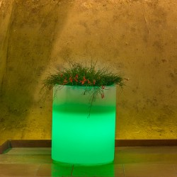 MONACIS VASO VESUVIO BRIGHT GREEN LIGHT DIAMETRO CM 40 H CM 50