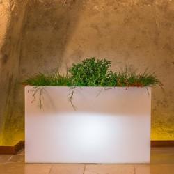 Fioriera flowerpot bright 80x35cm bianco con luce teknoplast