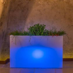 MONACIS FIORIERA FLOWERPOT BRIGHT CM 80X35 H CM 50 BLUE LIGHT