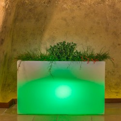 MONACIS FIORIERA FLOWERPOT BRIGHT CM 80X35 H CM 50 GREEN LIGHT