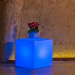 MONACIS YOUCUBE BRIGHT BLUE VASO LUMINOSO 40 X 40 X 40 CM
