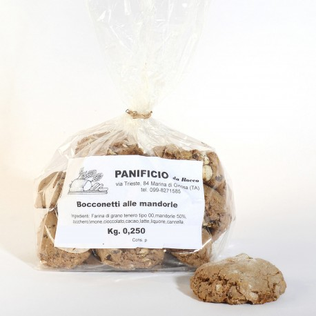Bocconetti Pugliesi alle Mandorle confezione 250 grammi Panificio Rocco