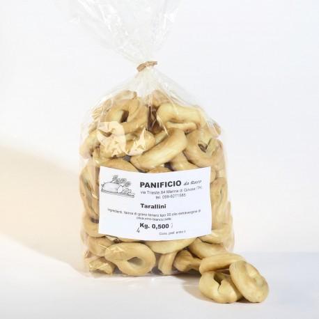 Tarallini Pugliesi Confezione da 500 grammi Panificio Rocco