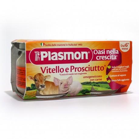 OMOGENEIZZATO AL VITELLO E PROSCIUTTO 2X80G PLASMON