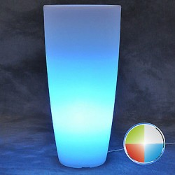 MONACIS VASO STILO ROUND TOP BRIGHT LED MULTICOLOR WITH BATTERY DIAMETRO CM 40