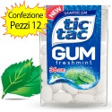 Tic Tac Gum Gusto Freshmint Confezione 12 Pacchi di Tic Tac da 14 grammi Ciascuno