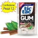 Tic Tac Gum Gusto Liquorice Mint Confezione 12 Pacchi di Tic Tac da 17,5 grammi Ciascuno