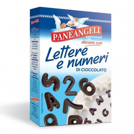 PANEANGELI LETTERS AND NUMBERS OF CHOCOLATE gr.60