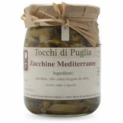 Mediterranean Zucchini in Extra Virgin Olive Oil in Jar of 500 grams by the organic farm Tocchi di Puglia