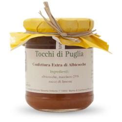 Jam of Apricots in Jar of 260 grams by the organic farm Tocchi di Puglia