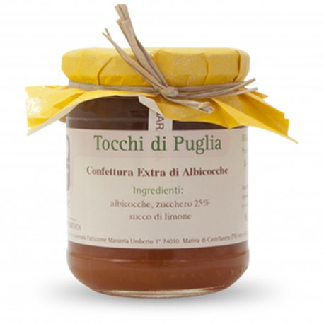 Jam of Apricots in Jar of 260 grams by the organic farm Tocchi di Puglia