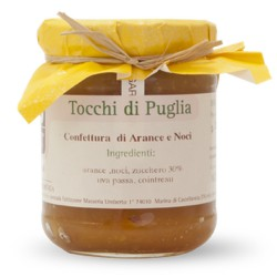 Jam of Oranges and Walnuts in Jar of 260 grams by the organic farm Tocchi di Puglia