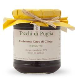 Jam of Cherries in Jar of 260 grams by the organic farm Tocchi di Puglia