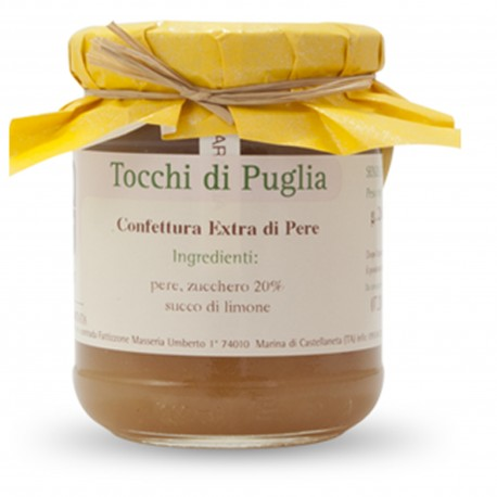 Jam of Pears in Jar of 260 grams by the organic farm Tocchi di Puglia