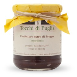 Jam of Prunes in Jar of 260 grams by the organic farm Tocchi di Puglia
