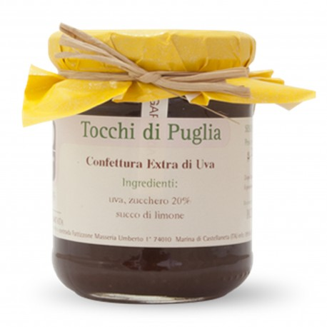 Jam of Grapes in Jar of 260 grams by the organic farm Tocchi di Puglia