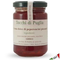 Crema Dolce di Peperoncini Piccantelli Tocchi di Puglia in Vasetto da 140 grammi