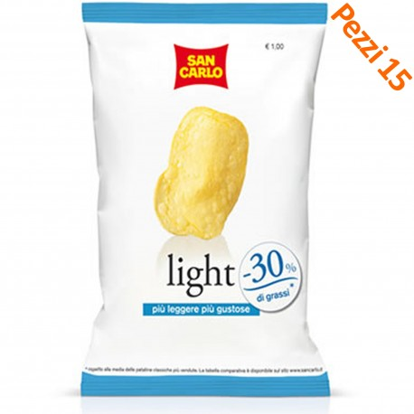PATATINE LIGHT SAN CARLO GRAMMI 75 PEZZI 15