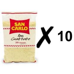 SAN CARLO PAN GRATTATO 10 BUSTE DA 200 GRAMMI CADAUNO