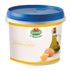VIANDER Maionese Gastronomica Confezione In Secchio Da 5 Chilogrammi