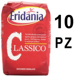 Eridania Sugar Classic 10 bags of 1 Kilogram Each caster White