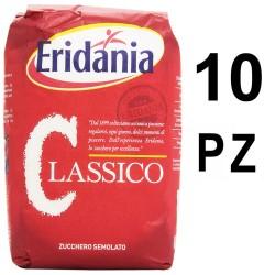 Eridania Zucchero Classico 10 Sacchetti da 1 Chilogrammo Ciascuno Semolato Bianco