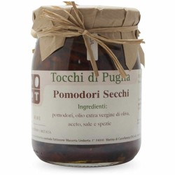 Dry Tomatoes in Extra Virgin Olive Oil in Jar of 500 grams by the organic farm Tocchi di Puglia