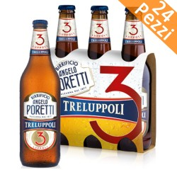 BEER ANGELO PORETTI THREE HOPS 24 BOTTLES 33 CL