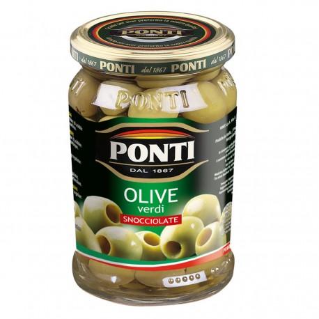 Ponti Olive Verdi Snocciolate in Vaso da 680 Grammi