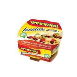 Simmenthal Le Gustose di Pollo Fagioli e Olio Piccante Confezione da 160 Gr