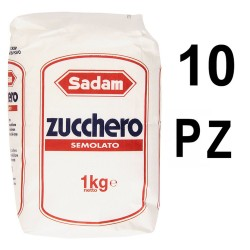 Eridania Sadam caster sugar Pack of 10 bags From 1 Kilogram Each