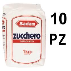 Sadam Zucchero Semolato Confezione Da 10 Sacchetti Da 1 Chilogrammo Ciascuno