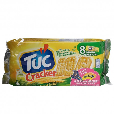 Tuc Crackers Taste Olive Oil and Rosemary Herbs Multipack From 250 Grams Salty Snacks