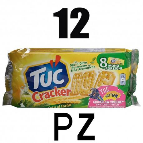 Tuc Crackers Gusto Olio D'oliva Rosmarino ed Erbe Aromatiche 12 Multipack Da 250 Grammi Ciascuno Snacks Salato