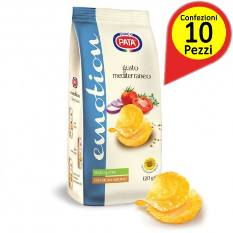 Pata Line Emotion Mediterranean Taste Pack of 10 Packs of 120 Grams Each