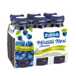Zuegg Juice with Wild Bilberries Pack of 6 Glass Bottles of 125 Milliliters