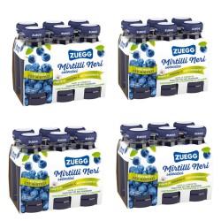 Succo Zuegg ai Mirtilli Selvatici Confezione da 24 Bottiglie di Vetro da 125 Milliliters