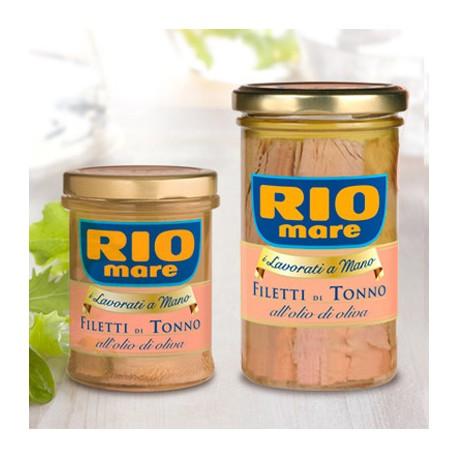 Rio Mare Filetti di Tonno in Olio d'Oliva in Vaso di Vetro da Grammi 180